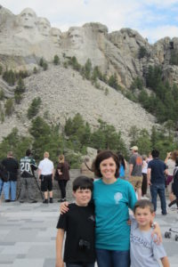 Dr. Cashen at Mt. Rushmore with her two sons.