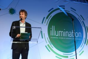 Special guest Dana Carvey speaks at the 2016 Illumination Gala