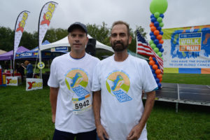 Dennis and Brian at the Be the Match Walk and Run.